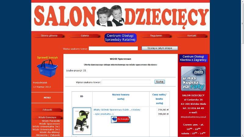 Sklep internetowy SALON DZIECIĘCY Bielsko-Biała
