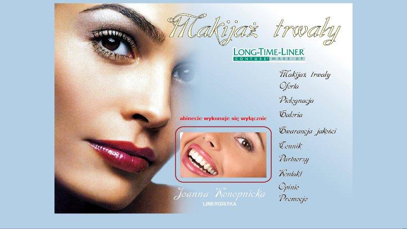 Strona internetowa makijażu trwałego