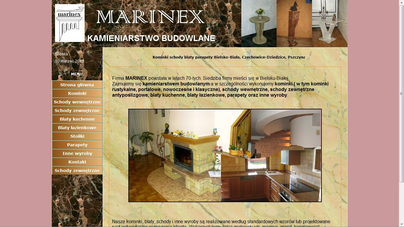 Strona internetowa kamieniarstwa Marinex